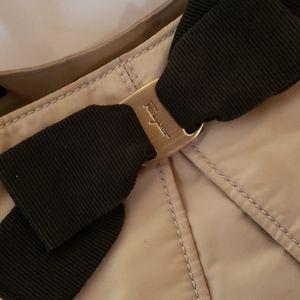 Salvatore Ferragamo Bags - Salvatore Ferragamo tan nylon bow tote